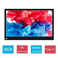 15.6 Inch 4K Adobe 100% Color Type C Portable HDR Gaming Monitor For PS4 Pro XBOX NS PC Laptop Screen With Speaker Wall Mount