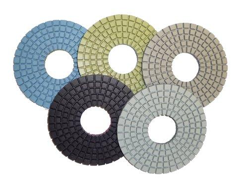 Toolocity CPP06SET 6-Inch Dry 5-Step Diamond Polishing Pads for Concrete, Set of 5