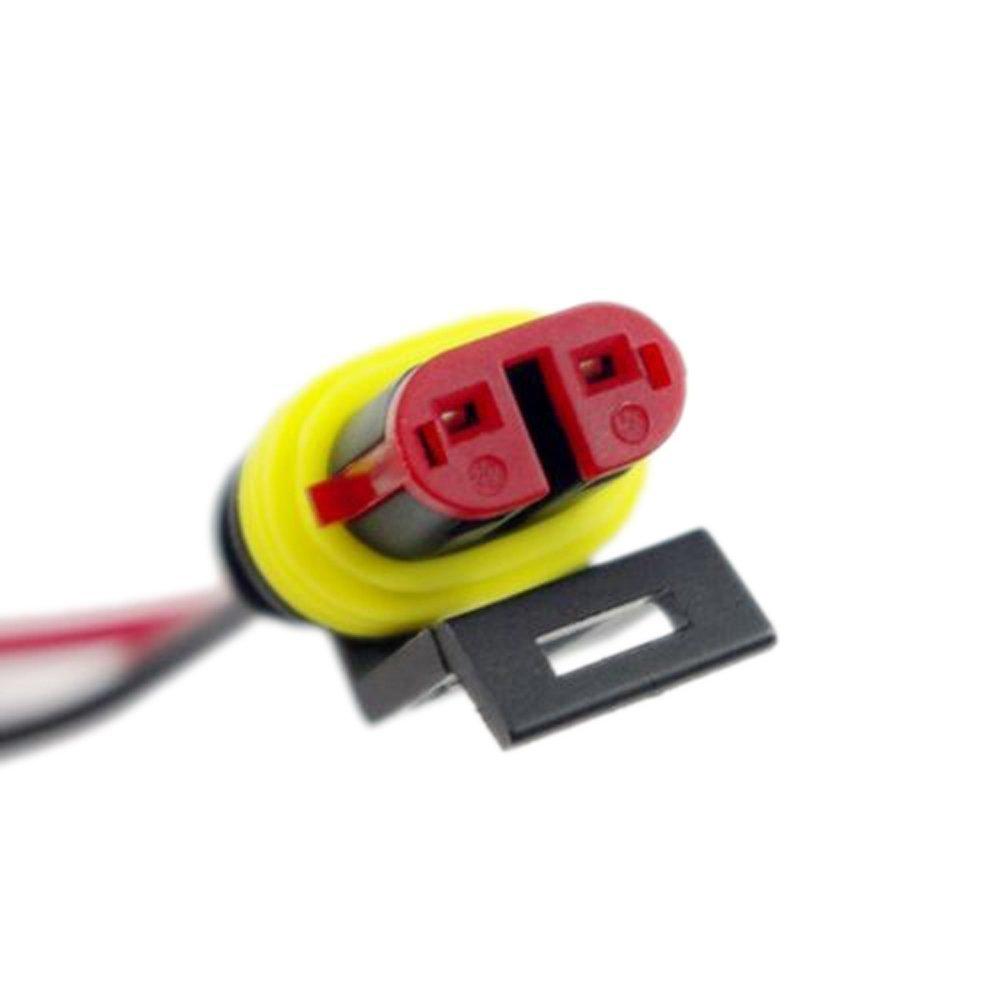 Allbusky Wasserdichtes Auto 2 Pin Elektrischer Stecker Stecker mit ...