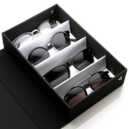 Eyewear Collectors Edition Vinyl Sunglass Display Carrying Case (Black)