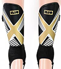 Soccer Shin Guards - Youth Sizes - by Ilio Sporting Goods - Youth - Shin Guards For Kids - Full Ankle Protection - Perfect Sizing for Boys and Girls - XS|S|M - Satisfaction Guarantee