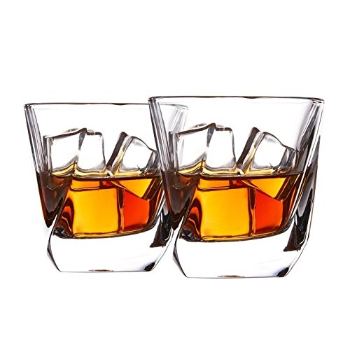 Whiskey Glasses,WBSEos Luxury Crystal Glasses Set,Non-Leaded Carity Glasses,Wine Accessories Set of 2 Glasses (8oz) for Wine,Cocktails or Juice