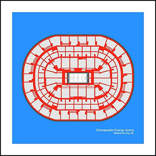 Oklahoma City Thunder Chesapeake Energy Arena Arena Print Art Gift