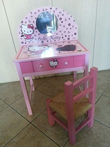 Tavolino Hello Kitty.Dedit Scrivania Tavolino Hello Kitty In Legno Amazon It