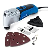 Hyperikon Oscillating Tool Variable Speed, Multipurpose Kit, 120V, 2.5 Amp Power Oscillating Multi-Tool Kit Corded - Quick Release Blade Replacement, Case, Scraper, Blade, Sanding Pad, Sanding Paper