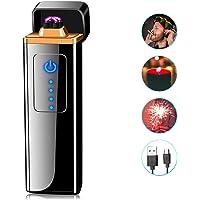 ASANMU Mechero Electrico, Mini USB Encendedor Electrico Pantalla