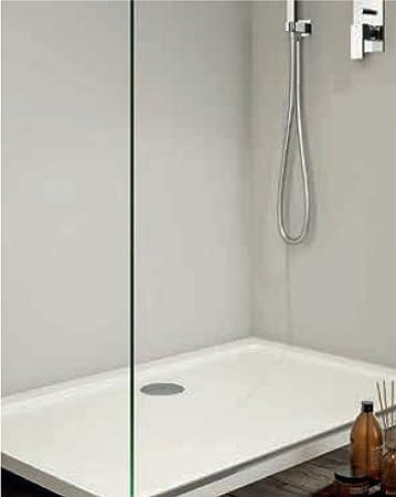 Plato de ducha 70 x 90 cm blanco resina: Amazon.es: Hogar