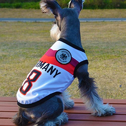 Yizhi Miaow Dog Soccer Jersey World Cup Pet T-Shirt-Dog Costume to Celebrate The Russia 2018 FIFA Germany Team Dog/Cat Shirt Jerseys Size XL for Small- Medium Dogs
