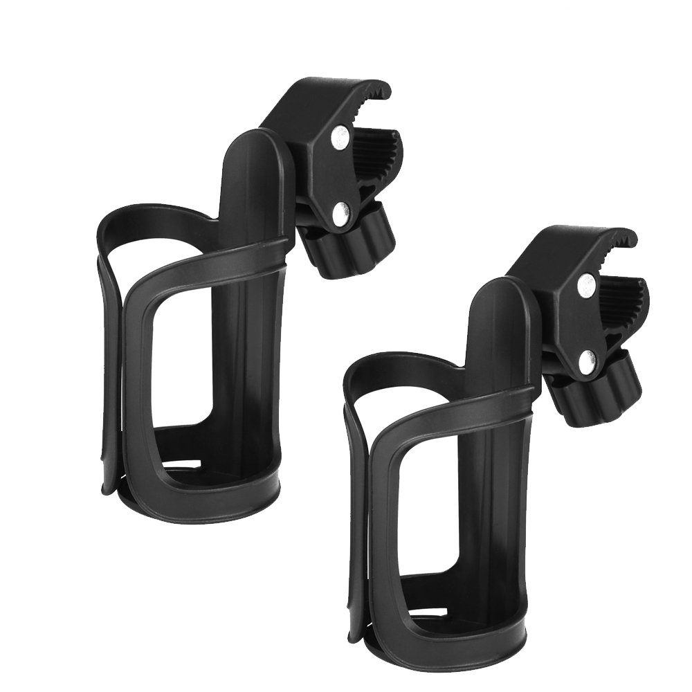 accmor Upgrade Edition Bike Cup Holder, Stroller Drink Holders, Universal 360 Degrees Rotation Cup Drink Holder for Baby Stroller/Pushchair, Bicycle, Wheelchair and Motorcycle