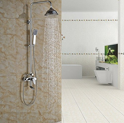 GOWE One Handle Shower Mixer Taps Bathroom Shower Set with 8