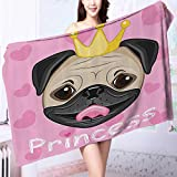 AuraiseHome Extra Large Bath Towel Princess Dressing Room in Palace Luxurious with Chandelier Fireplace Easy care machine wash L39.4 x W19.7 INCH