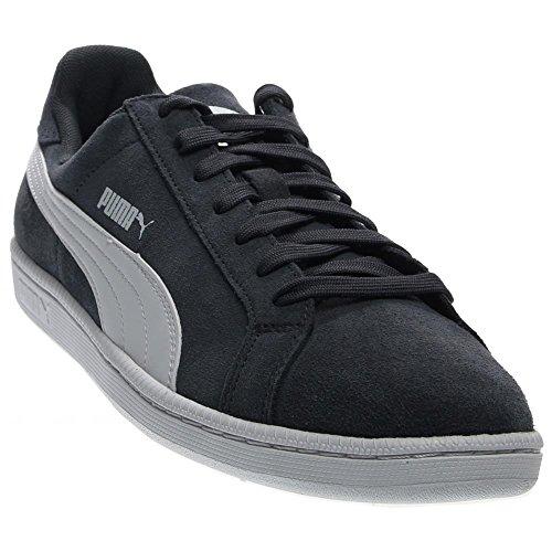 PUMA Men's Smash Leather Classic Fashion Sneaker (8.5, New Navy/White)