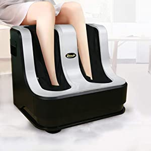 77tech Foot Massager Machine Shiatsu Massager with Heat for Tired Feet, Leg, Calf, Deep Kneading Therapy, Relaxation Vibration, Rolling, Stimulate Blood Circulation Treatment for Plantar Fasciitis