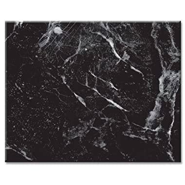 CounterArt Black Marble Design Glass Cutting Board, 15 x 12 Inches