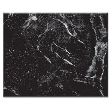 CounterArt Black Marble Design Glass Cutting Board, 15 x 12 Inches