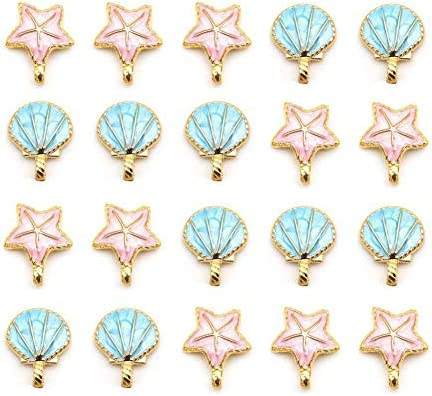 Seashell Starfish Pendants Jewelry Crafting product image