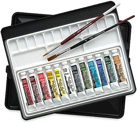 Amazon Com Grumbacher Academy Watercolor Artists Sketchbox Set