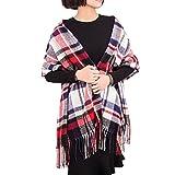 ADUO Women Cashmere Scarf Fashion Long Plaid Shawl Warm Lattice Large Scarf Fashion Scarves