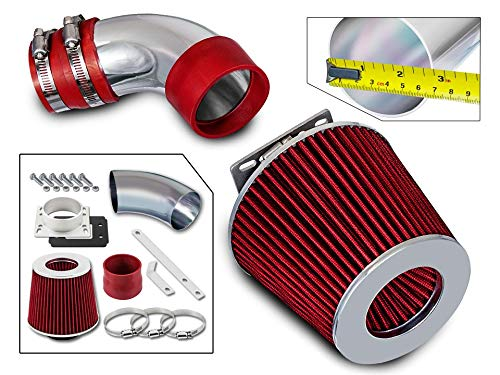 Rtunes Racing Short Ram Air Intake Kit + Filter Combo RED For 86-89 Toyota Celica 2.0L Non-Turbo