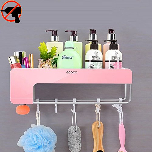 Adhesive Bathroom Shelf Organizer Shower Caddy Floating Wall