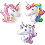 3-Pack XL Unicorn Balloons for Birthday Party Decorations Supplies Wedding Baby Shower Decoration