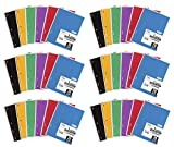 Mead SLTYGJHJ Spiral Notebooks, 1 Subject, College Ruled Paper, 70 Sheets, 10-1/2'' x 7-1/2'', Assorted Colors, 6 Pack (73065) 36 Pack