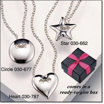Jill Button Necklace (Circle)