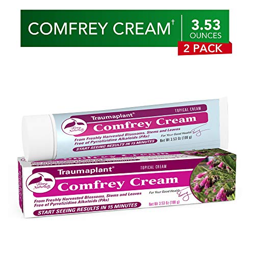 Terry Naturally Traumaplant Comfrey Cream (2 Pack) - 3.53 oz (100 g) - Non-Staining Topical Botanical, Free of Toxic Pyrrolizidine Alkaloids (PAs) & Parabens - for External Use Only (3.53 Ounce Cream)