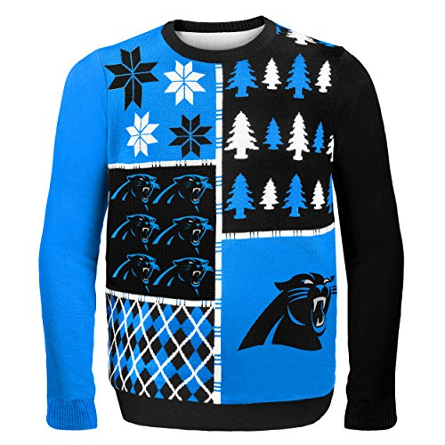 Carolina Panthers Busy Block Ugly Sweater