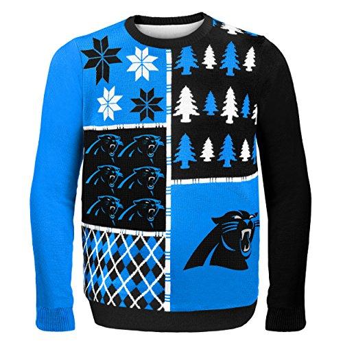 Carolina Panthers Busy Block Ugly Sweater Extra Large