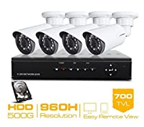 GOWE 4CH CCTV System 960H CCTV DVR HDMI 500GB HDD 4PCS 700TVL IR Outdoor Security Camera Security System Surveillance Kits