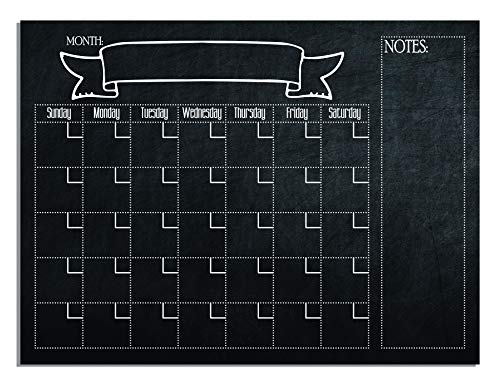 (Vinyl Quote Me Printed Chalkboard Calendar Unframed 24x18)