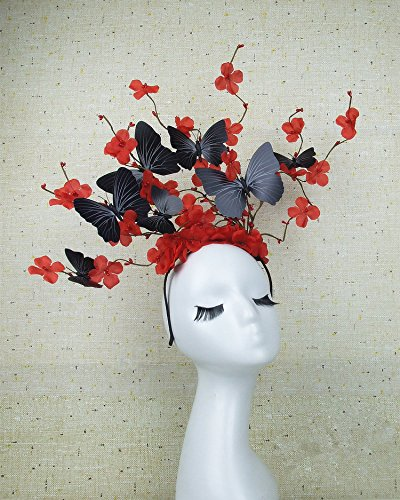- Christmas Fairy & Witch Tree Branches Antlers Headband Cosplay Party Butterfly Flower Headpiece Decoration Steampunk Vintage (D)