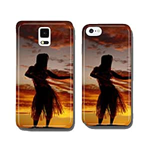 silhouette of Hawaiian woman grass skirt dancing cell phone cover case iPhone6 Plus