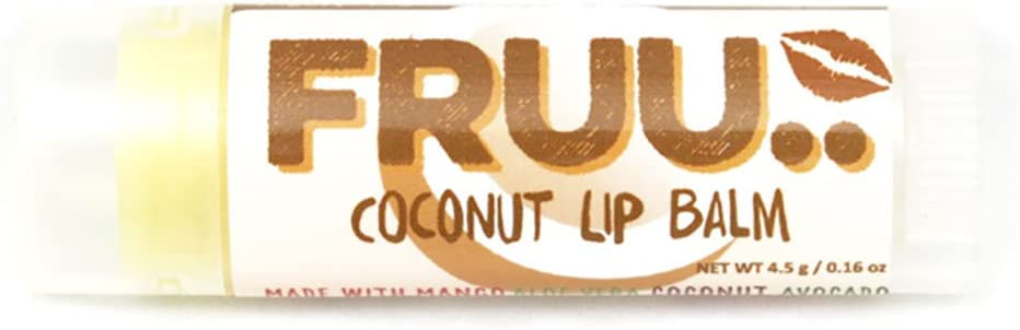 Fruu. Organic Coconut lip balm - Scent free and allergen free - Made in the UK