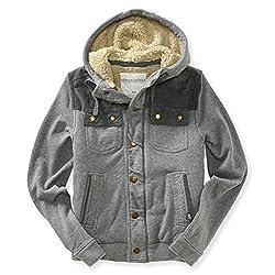 Aeropostale Mens Fleece Lined Field Jacket
