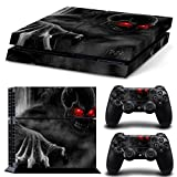 Red-Eye Skull Custom PS4 Skins Set for Sony Playstation 4 Console Vinyl Sticker Decal