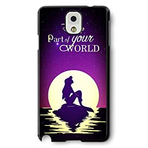 The Little Mermaid Ariel Classic Disney Cartoon Movie Hard Plastic Phone Case Cover for Samsung Galaxy Note 3 - Black