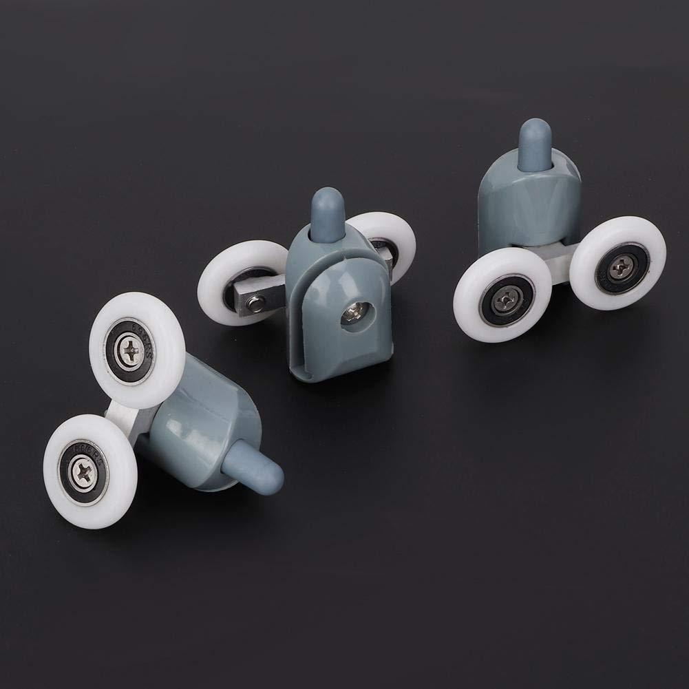 Double Wheel Sostituzione Doccia Scorrevole Vetro Bottom Runner Rulli Pulegge Ruota Porta Rullo della Tenda