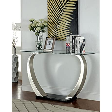 Furniture Of America Kassius Modern Sofa Table Metallic Finish
