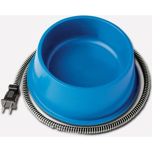 Farm Innovators Dog Bowl - Farm Innovators 1-Quart Heated Bowl QT-1, Blue, 25 Watts