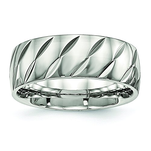 UPC 886774528267, Stainless Steel Polished Diamond Cut Ring