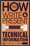 How to Write and Present Technical Information, Sides, Charles H., 0521438616