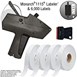 Monarch 1115 Price Gun with Labels Starter Kit: Includes Price Gun, 6,000 White Pricing Labels, Inker and Label Scrapper