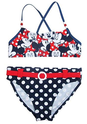 Minnie Mouse Bikini Kollektion 2016 Badesachen 92 98 104 110 116 122 128 Mädchen Schwimmbekleidung Sommer Neu Weiß-Blau (98 - 104)