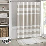 "Madison Park MP70-1483 Spa Waffle Shower Curtain 72x72"" Taupe,72x72"""