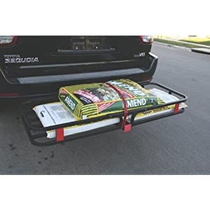"MaxxHaul 70107 Hitch Mount Compact Cargo Carrier - 53"" x 19-1/2"" - 500 lb. Maximum Capacity for 2"" Hitch Receiver"