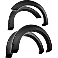 Tyger Auto TG-FF8F4017 for 2004-2008 Ford F150 (ONLY Fit Styleside Models); 2006-2008 Lincoln Mark LT | Rough Textured Black Pocket Bolt-Riveted Style Fender Flare Set, 4 Piece