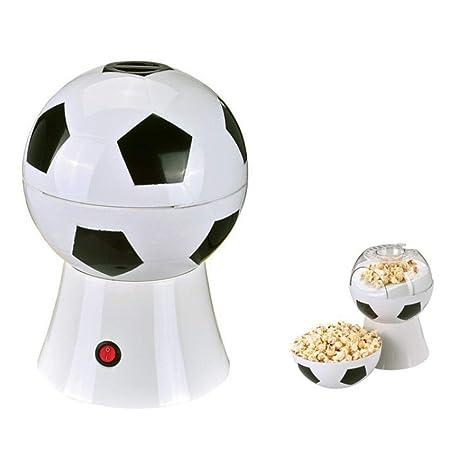 DWhui Estilo de fútbol Máquina de Palomitas de maíz eléctrica para el hogar Maquina de Hacer Palomitas de maíz, procesadores de Alimentos para Padres con ...