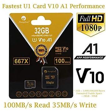 Amplim - Adaptador de tarjeta micro SD Plus (clase 10, UHS-I ...
